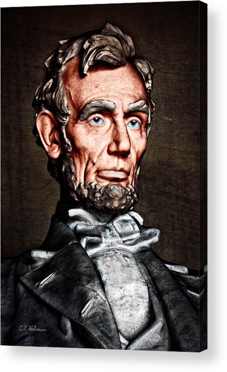 Abraham Lincoln Acrylic Print featuring the photograph Abraham Lincoln by Christopher Holmes