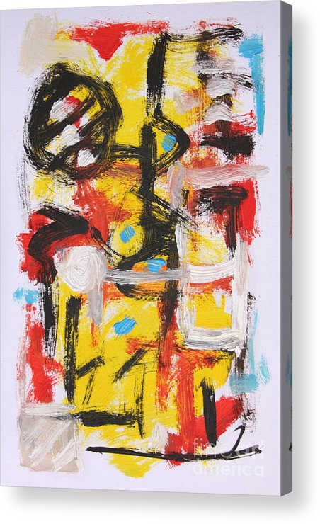 Abstract Acrylic Print featuring the painting Abstract 6835 by Michael Henderson