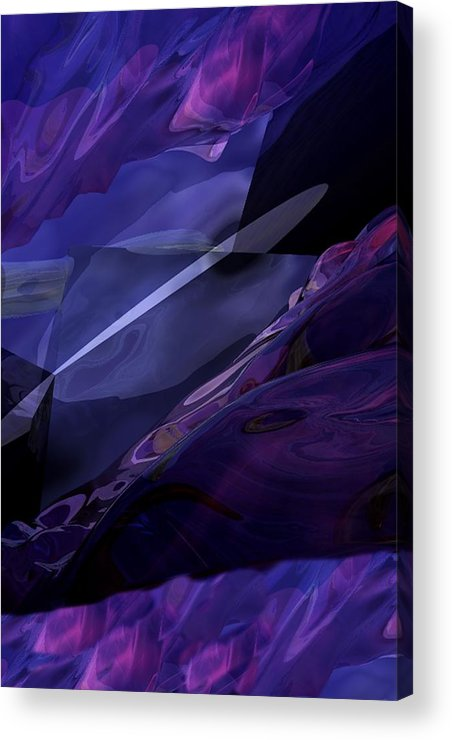 Abstract Acrylic Print featuring the digital art Abstractbr6-1 by David Lane