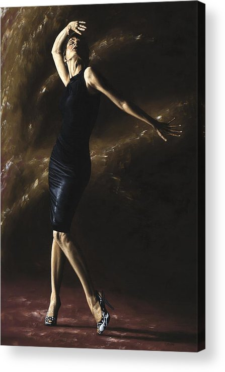 Dance Acrylic Print featuring the painting After The Dance by Richard Young