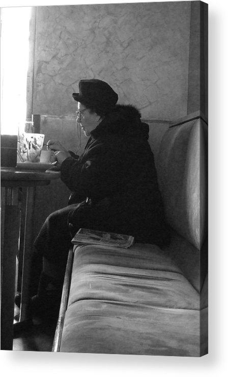 Old Lady Acrylic Print featuring the photograph Afternoon Tea by Kate Bentley