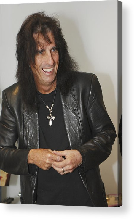 Alice Cooper Acrylic Print featuring the photograph Alice Cooper Happy by Jill Reger