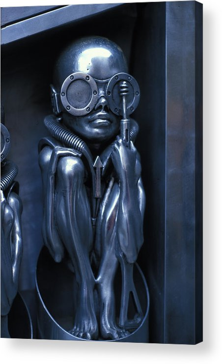 Alien Acrylic Print featuring the photograph Alien Baby By Giger by Carl Purcell