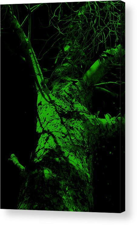 Tree Acrylic Print featuring the painting Alone Darkness 1 by Lounge Mode Productions Art