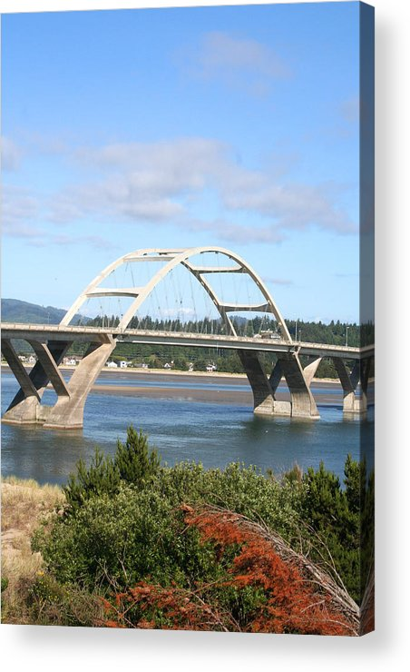 Alsea Acrylic Print featuring the photograph Alsea Bridge II Br-7005 by Mary Gaines