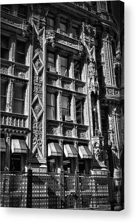 Black Russian Acrylic Print featuring the photograph Alwyn Court Building Detail 14 by Val Black Russian Tourchin
