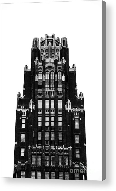 Symmetry Acrylic Print featuring the photograph American Radiator Building by Edi Chen