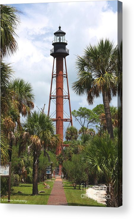 Lighthouse Acrylic Print featuring the photograph Anclote Key Lighthouse by Barbara Bowen