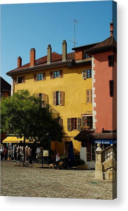 Town Acrylic Print featuring the photograph Annecy Town Square by Francois Dumas