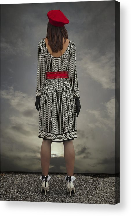 Woman Acrylic Print featuring the photograph At The Edge by Joana Kruse
