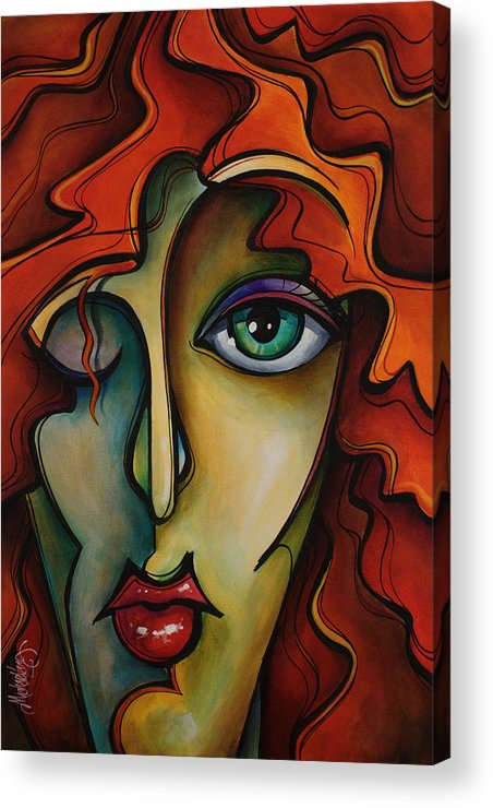 Urban Art Acrylic Print featuring the painting Autumn by Michael Lang