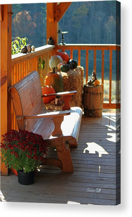 Fall Acrylic Print featuring the photograph Autumn Retreat by Suzanne Gaff