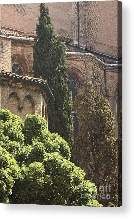 Venice Acrylic Print featuring the photograph Back Of Church Of The Frari In Venice by Michael Henderson