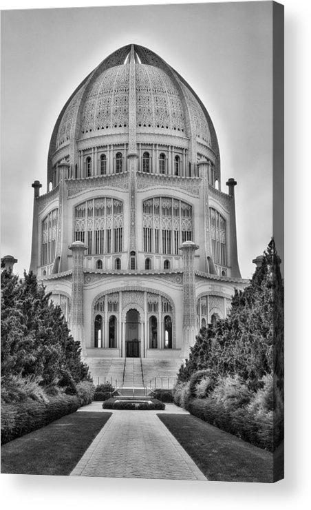 Baha\'i Temple - Wilmette - Illinois - Vertical Black And White ...