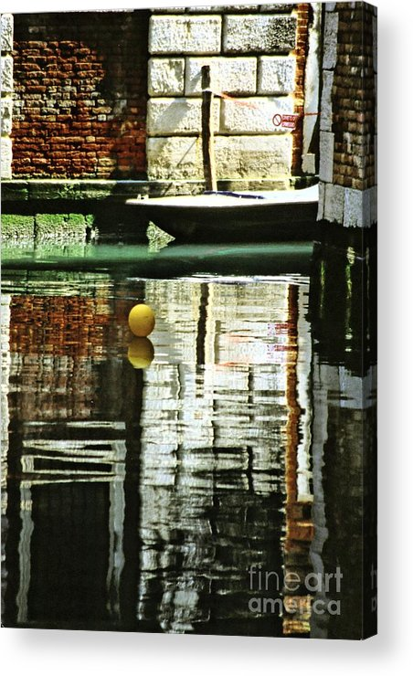 Venice Acrylic Print featuring the photograph Ball On A Canal In Venice by Michael Henderson