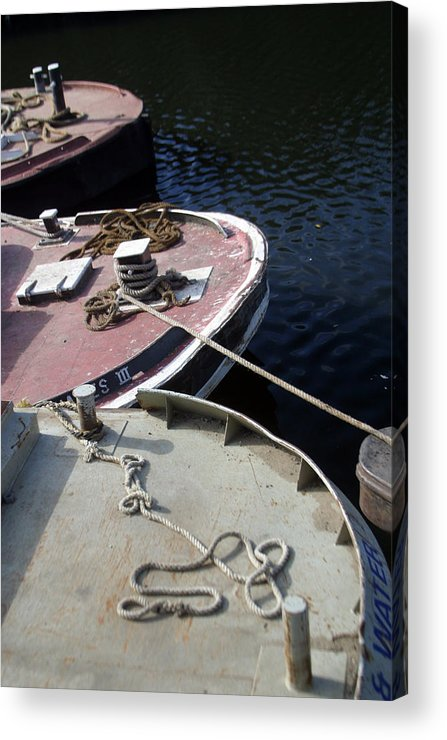 Jez C Self Acrylic Print featuring the photograph Barging Forward by Jez C Self