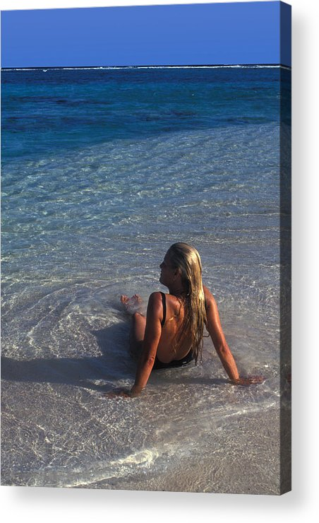 Beautiful Acrylic Print featuring the photograph Beach At Little Cayman by Carl Purcell