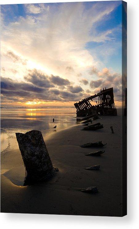 Landscape Acrylic Print featuring the photograph Beach Bones by Jennifer Owen