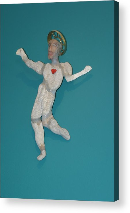 Recycle Acrylic Print featuring the sculpture Beach Christ by Michael Jude Russo
