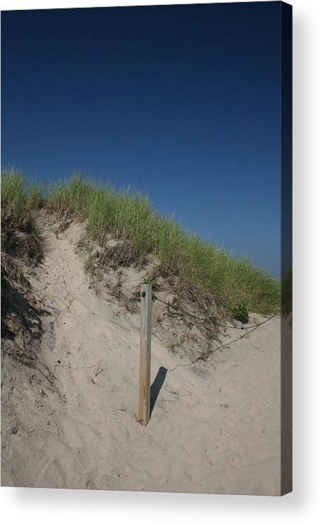 Beach Acrylic Print featuring the photograph Beachy Blues by Jeff Porter