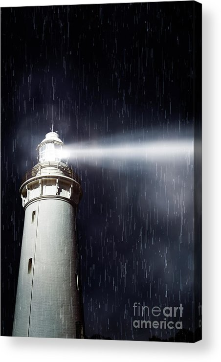 Nautical Acrylic Print featuring the photograph Beaming Lighthouse by Jorgo Photography - Wall Art Gallery