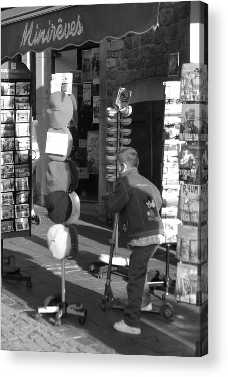 Jez C Self Acrylic Print featuring the photograph Beret Buying by Jez C Self