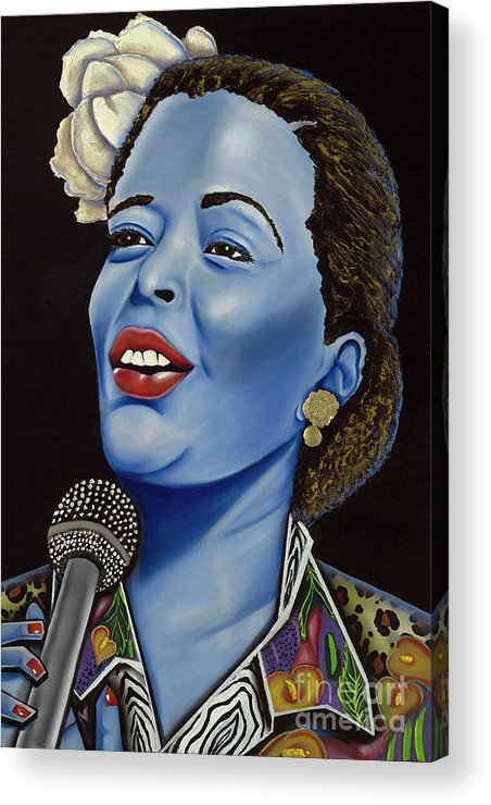 Portrait. Metallic Accessories Acrylic Print featuring the painting Billie by Nannette Harris