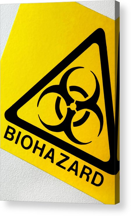 Label Acrylic Print featuring the photograph Biohazard Symbol by Tim Vernon, Nhs Trust