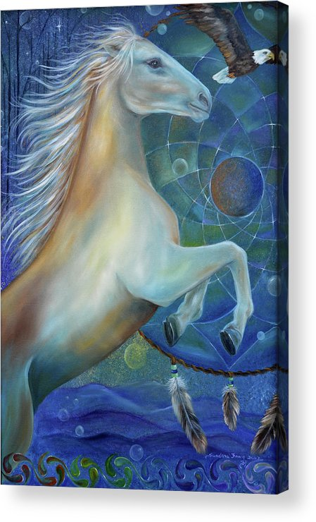 Horse Acrylic Print featuring the painting Birth Of Freedom by Sundara Fawn