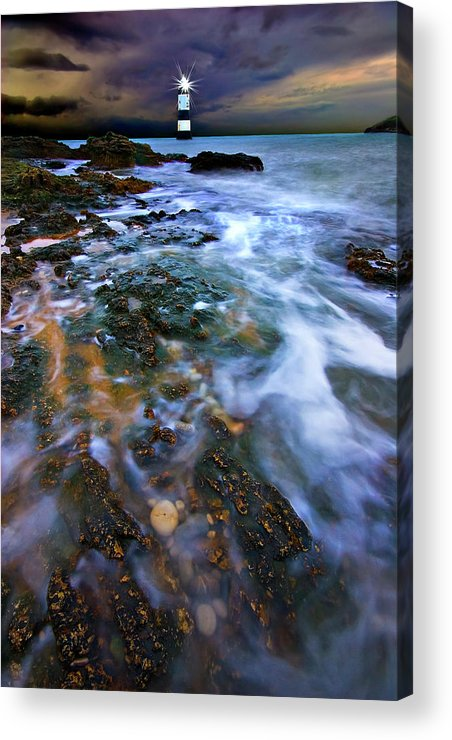 Uk Acrylic Print featuring the photograph Black Point Light by Meirion Matthias