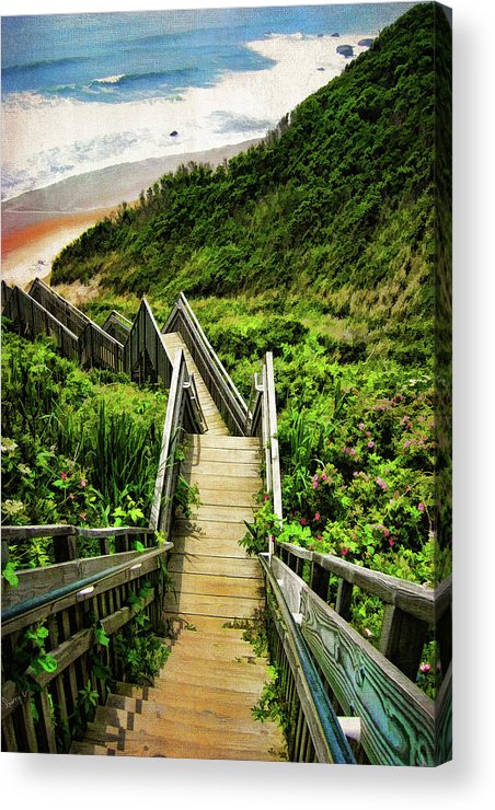 Block Island Acrylic Print featuring the photograph Block Island by Lourry Legarde