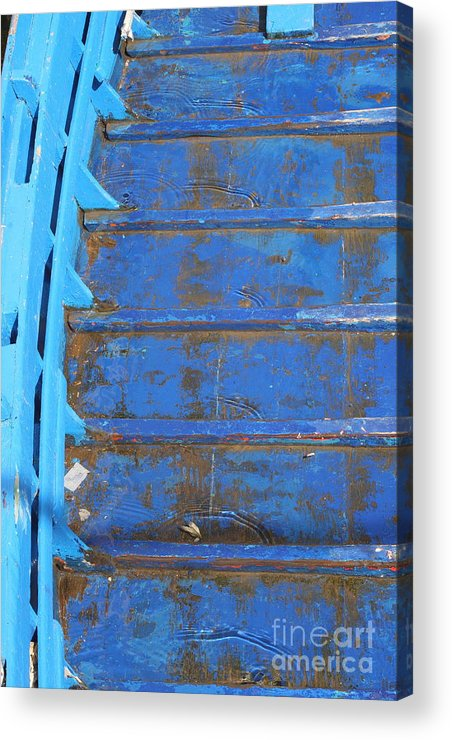 Venice Acrylic Print featuring the photograph Blue Boat In Venice by Michael Henderson