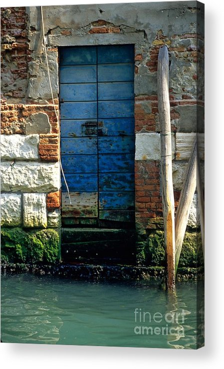 Venice Acrylic Print featuring the photograph Blue Door In Venice by Michael Henderson