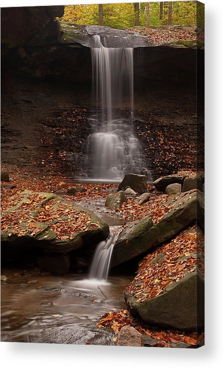Fall Acrylic Print featuring the photograph Blue Hen Falls And Cascade by TM Schultze