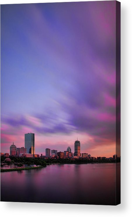 Boston Acrylic Print featuring the photograph Boston Afterglow by Rick Berk