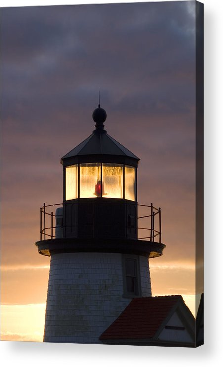 Krauzyk Acrylic Print featuring the photograph Brant Point Lanthorn - Nantucket by Henry Krauzyk