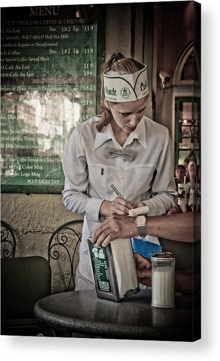 Cafe Acrylic Print featuring the photograph Breakfast At Cafe Du Monde by Daniel Ray