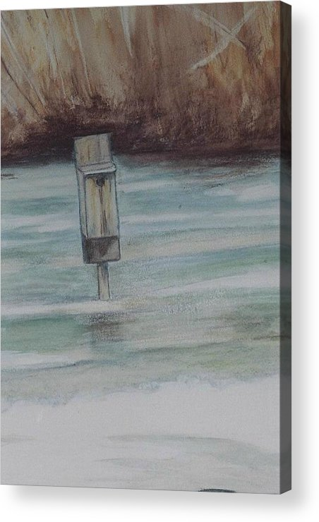 Duckbox Acrylic Print featuring the painting Brigham Pond Duck Box by Debra Sandstrom