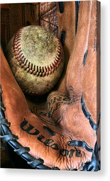 Baseball Acrylic Print featuring the photograph Broken In by JC Findley