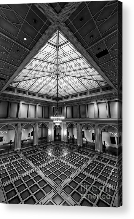 Symmetry Acrylic Print featuring the photograph Brooklyn Museum by Edi Chen