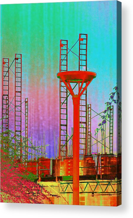 Construction Acrylic Print featuring the photograph Building In The Southwest by Richard Henne