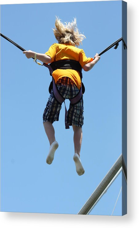 Bungee Jumping Acrylic Print featuring the photograph Bungee Fun II by Hans English