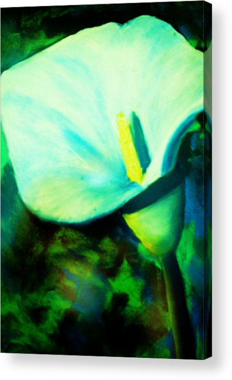 White Calla Lily Acrylic Print featuring the painting Calla Lily by Melinda Etzold