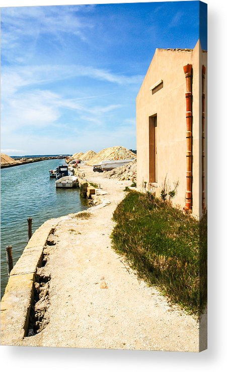 Europe Acrylic Print featuring the photograph Canal - Trapani Salt Flats by Kayme Clark