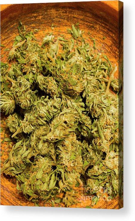 Cannabis Bowl Acrylic Print by Jorgo Photography - Wall Art Gallery