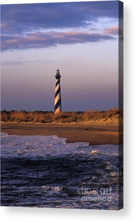 Hatteras Acrylic Print featuring the photograph Cape Hatteras Lighthouse At Sunrise - Fs000606 by Daniel Dempster