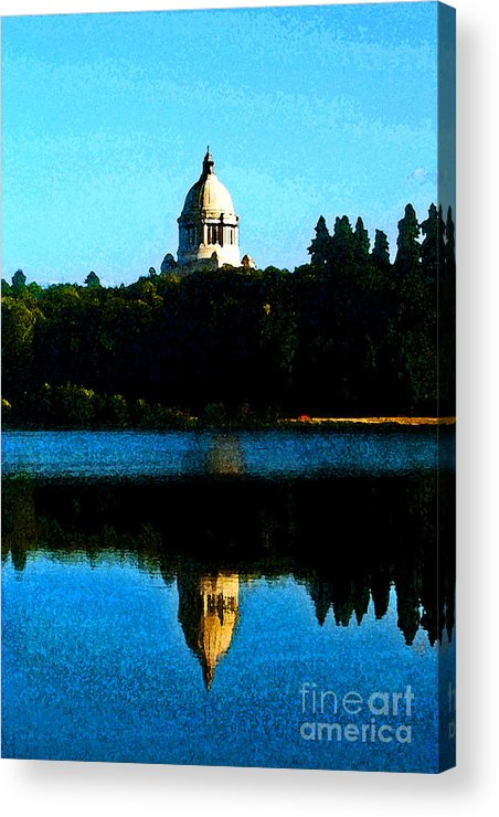 Lake Acrylic Print featuring the photograph Capital Lake by Larry Keahey