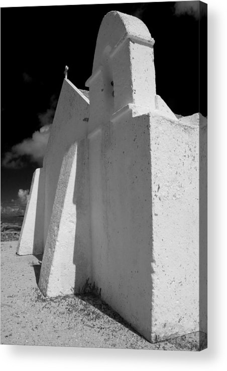 Portugal.algarve Acrylic Print featuring the photograph Carrapateira Church by John McKinlay