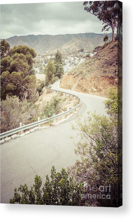 America Acrylic Print featuring the photograph Catalina Island Mountain Road Picture by Paul Velgos
