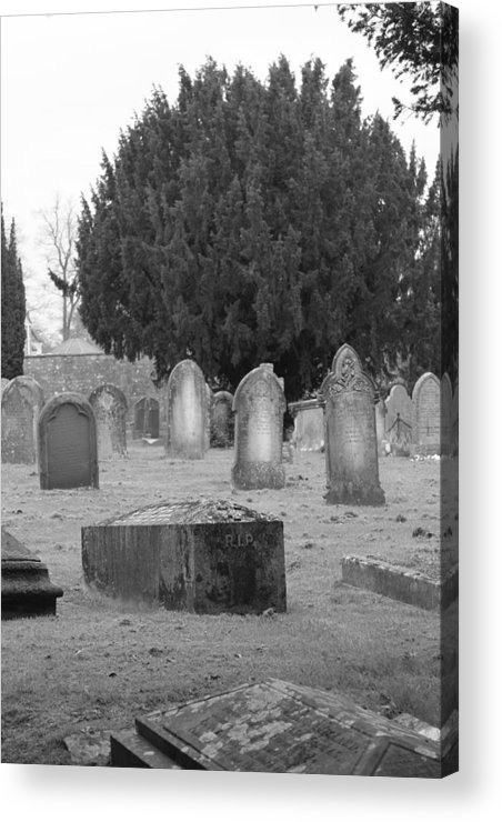 Cemetery Acrylic Print featuring the photograph Cemetery Church Of St. Mary Wedmore by Lauri Novak